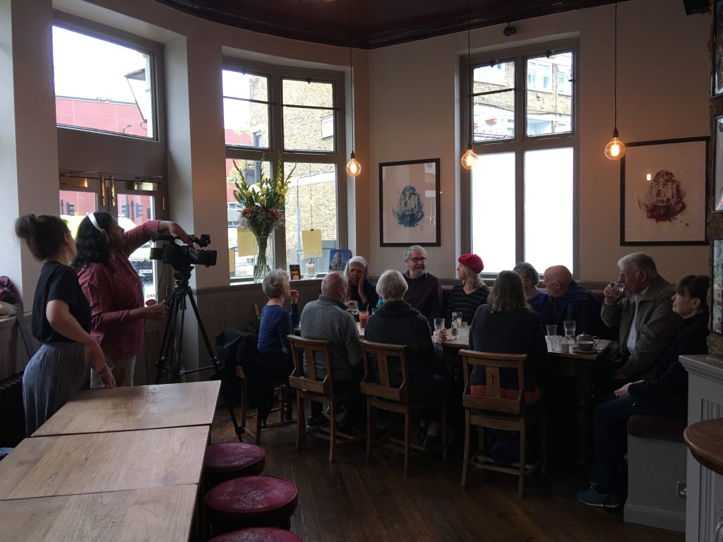 Filming in The Albert Arms